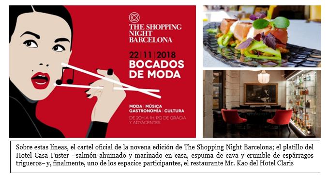 Vive la edición más gastronómica de The Shopping Night Barcelona